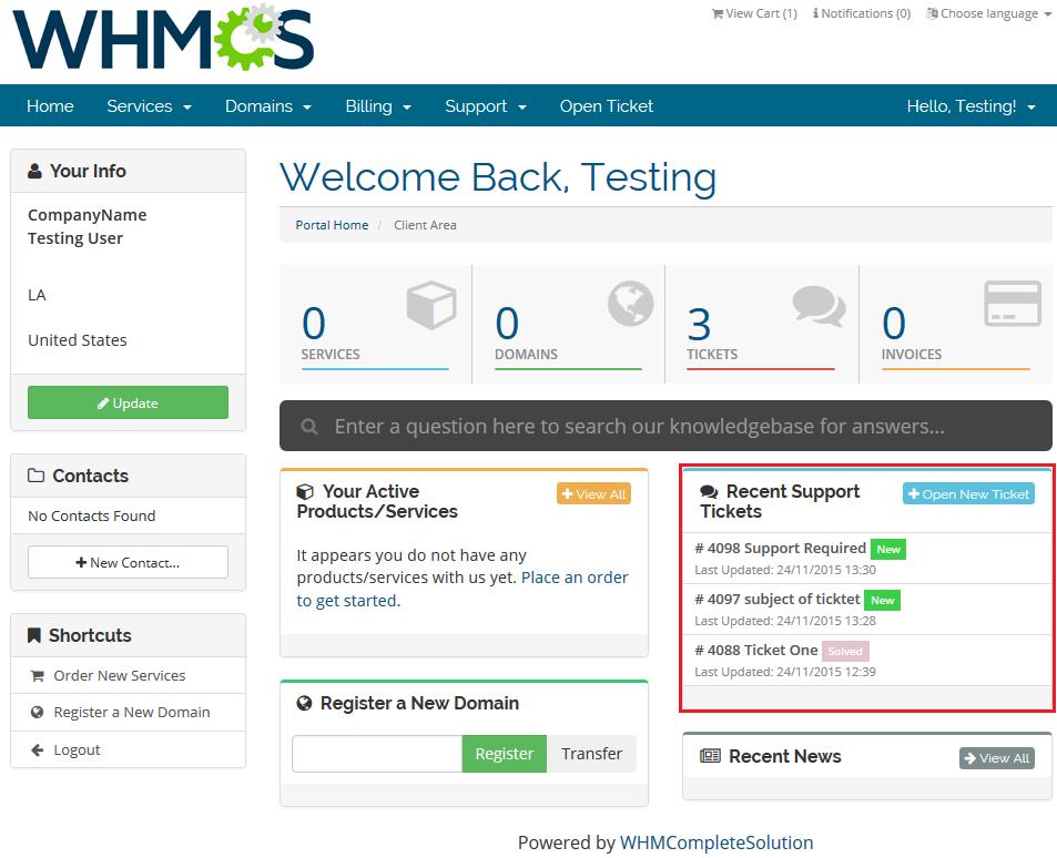 مشکل در ورود به WHMCS