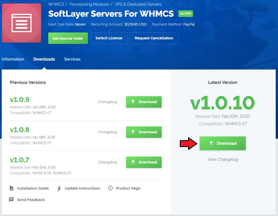 SoftLayer Servers For WHMCS - ModulesGarden Wiki