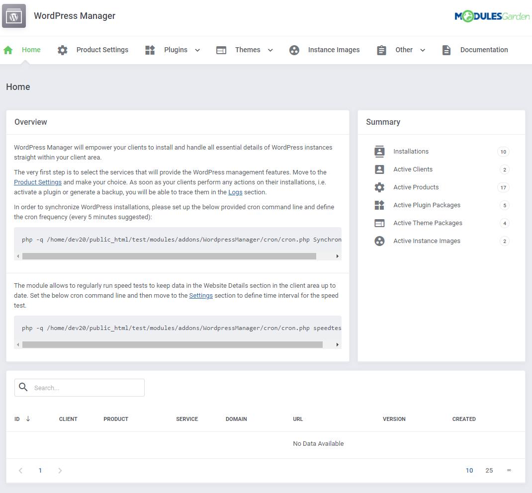 WordPress Manager For WHMCS - ModulesGarden Wiki