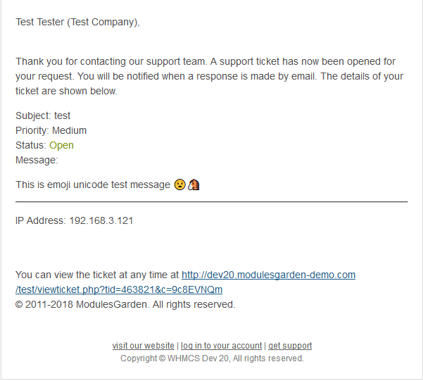 Emoji Picker For WHMCS - ModulesGarden Wiki