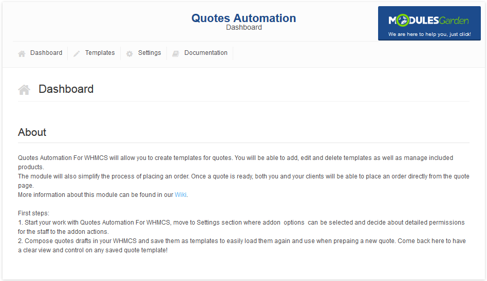 quotes automation for whmcs - modulesgarden wiki, Invoice templates