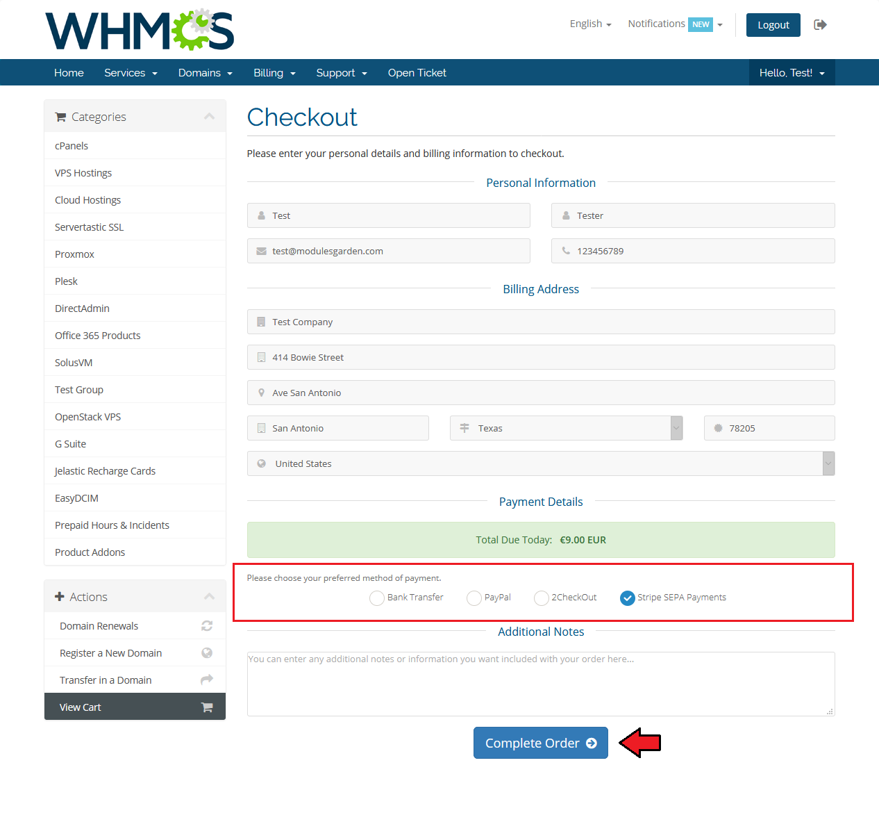 Stripe SEPA Payments For WHMCS - ModulesGarden Wiki