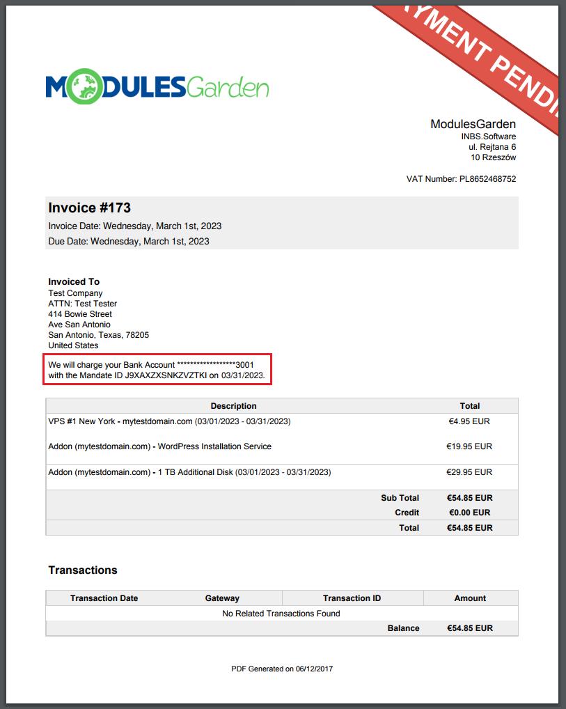 Stripe SEPA Payments For WHMCS - ModulesGarden Wiki