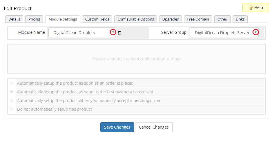 DigitalOcean Droplets For WHMCS - ModulesGarden Wiki