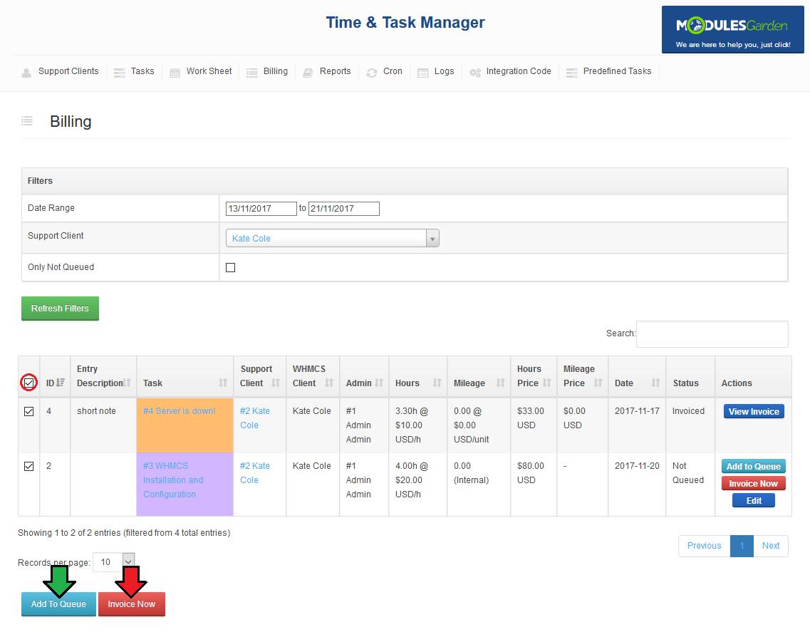 Time & Task Manager For WHMCS - ModulesGarden Wiki