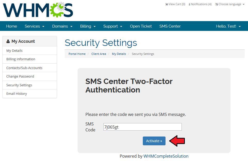 SMS Center 2 X For WHMCS - ModulesGarden Wiki