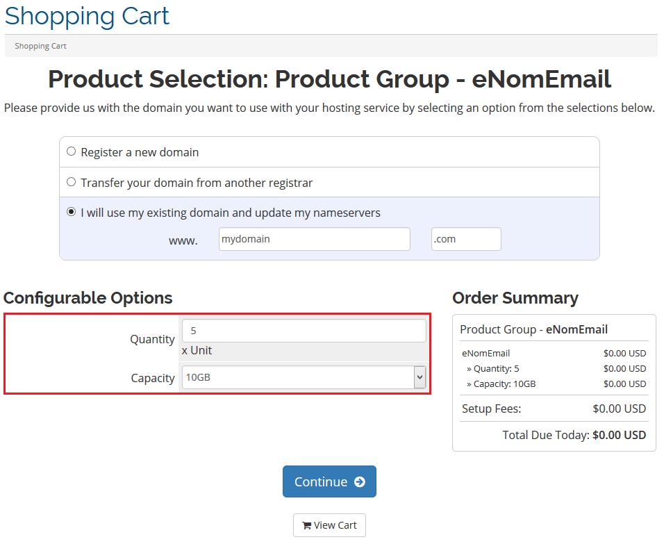 Enom Email For WHMCS - ModulesGarden Wiki
